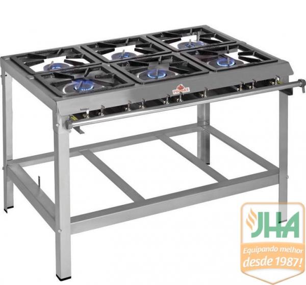 Fogão IndustrialPMI-603 N Progás, qualidade e durabilidade na sua cozinha. ideal para quem precisa aumentar sua produção.